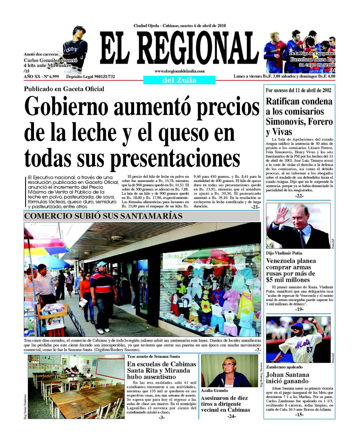 El Regional del Zulia | 06-04-2010