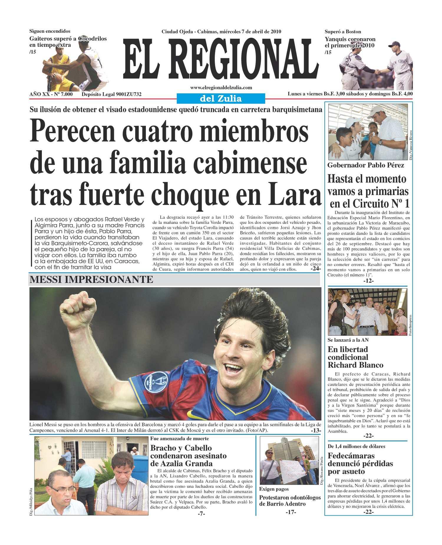 El Regional del Zulia | 07-04-2010