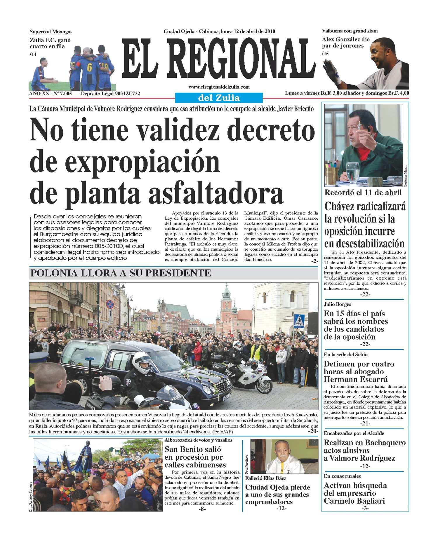 El Regional del Zulia 12-04-2010