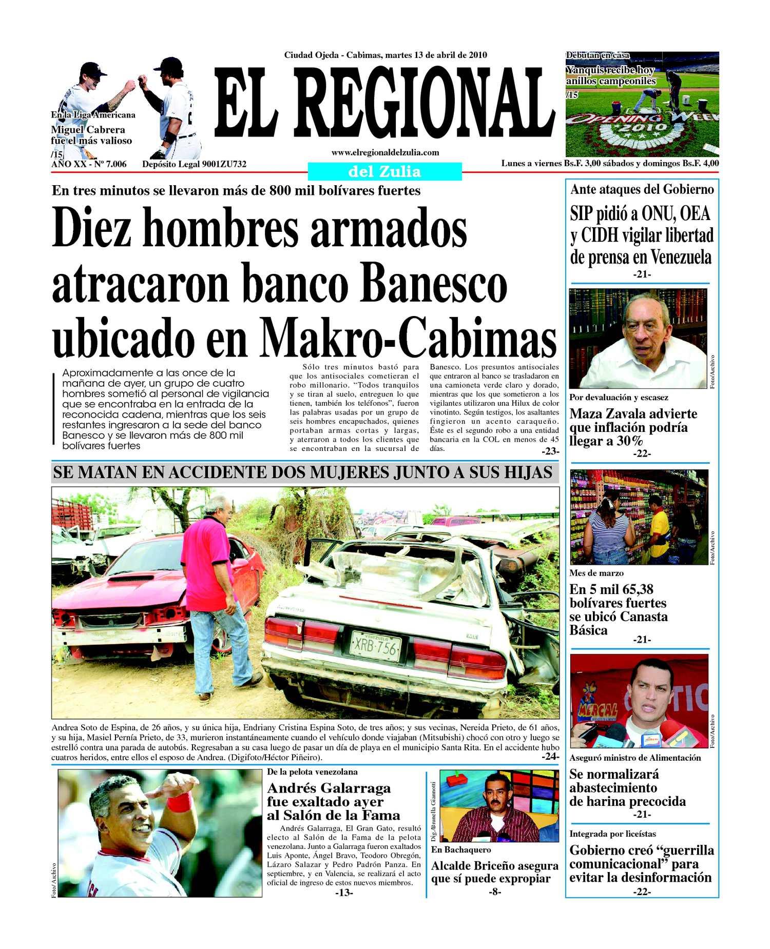 El Regional del Zulia 13-04-2010