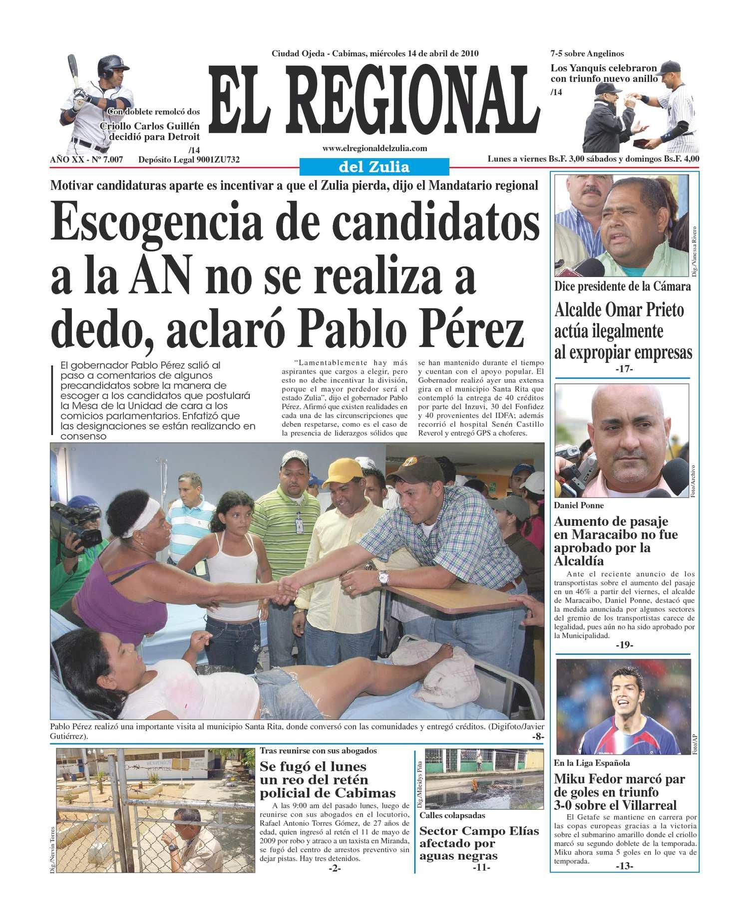 El Regional del Zulia 14-04-2010