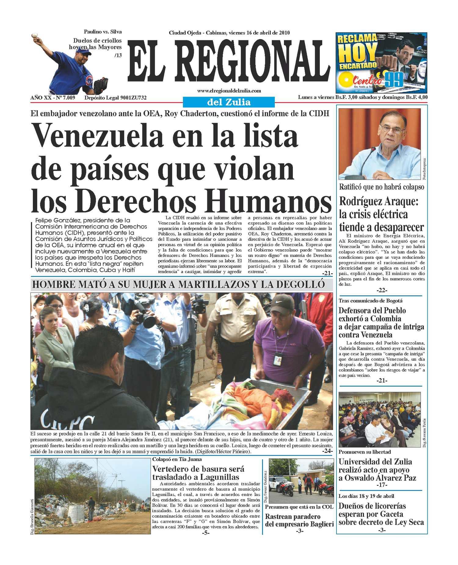 El Regional del Zulia 16-04-2010