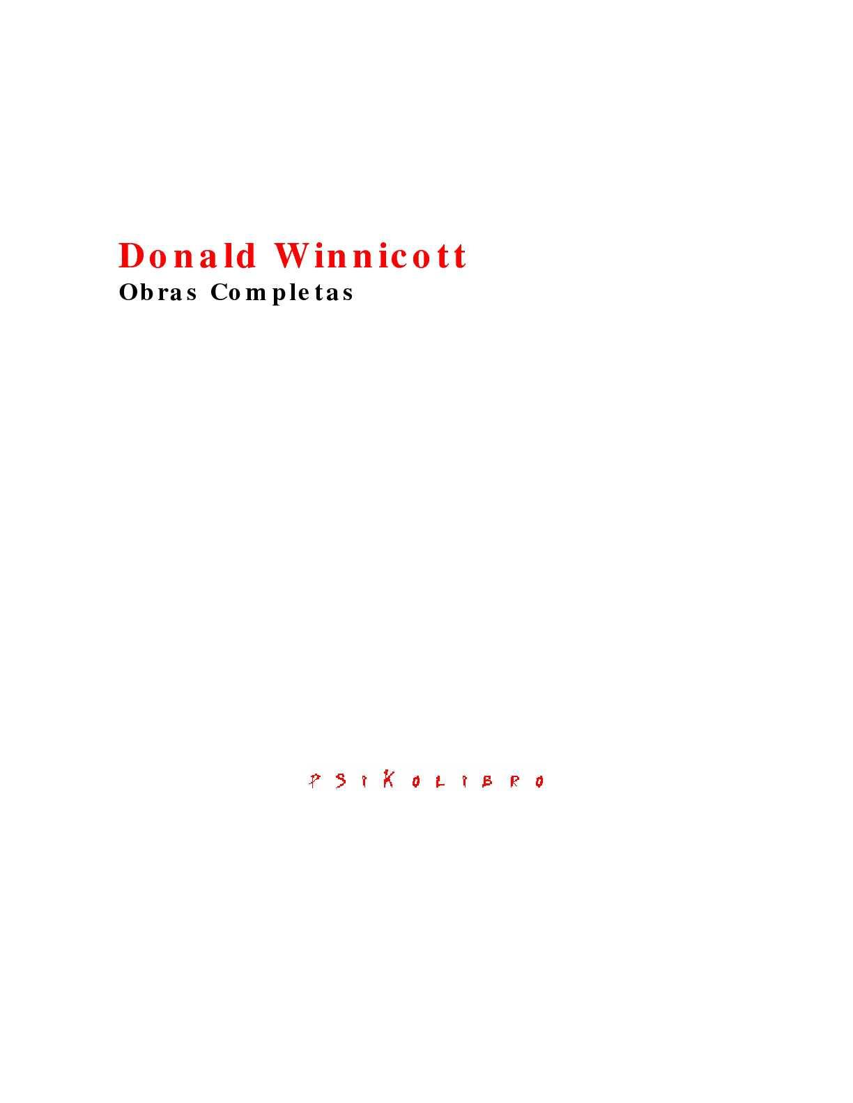 Calaméo - Donald Winnicott - Obras Completas