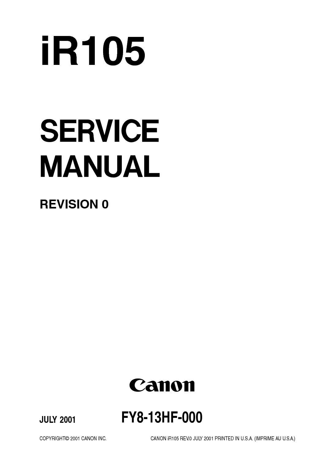 calaméo imagerunner ir105 parts and service manual