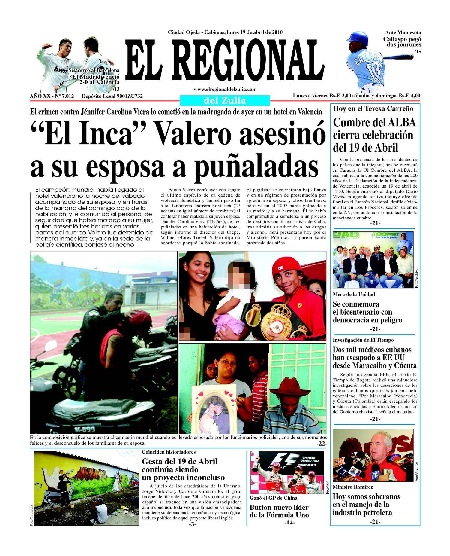 El Regional del Zulia 19-04-2010