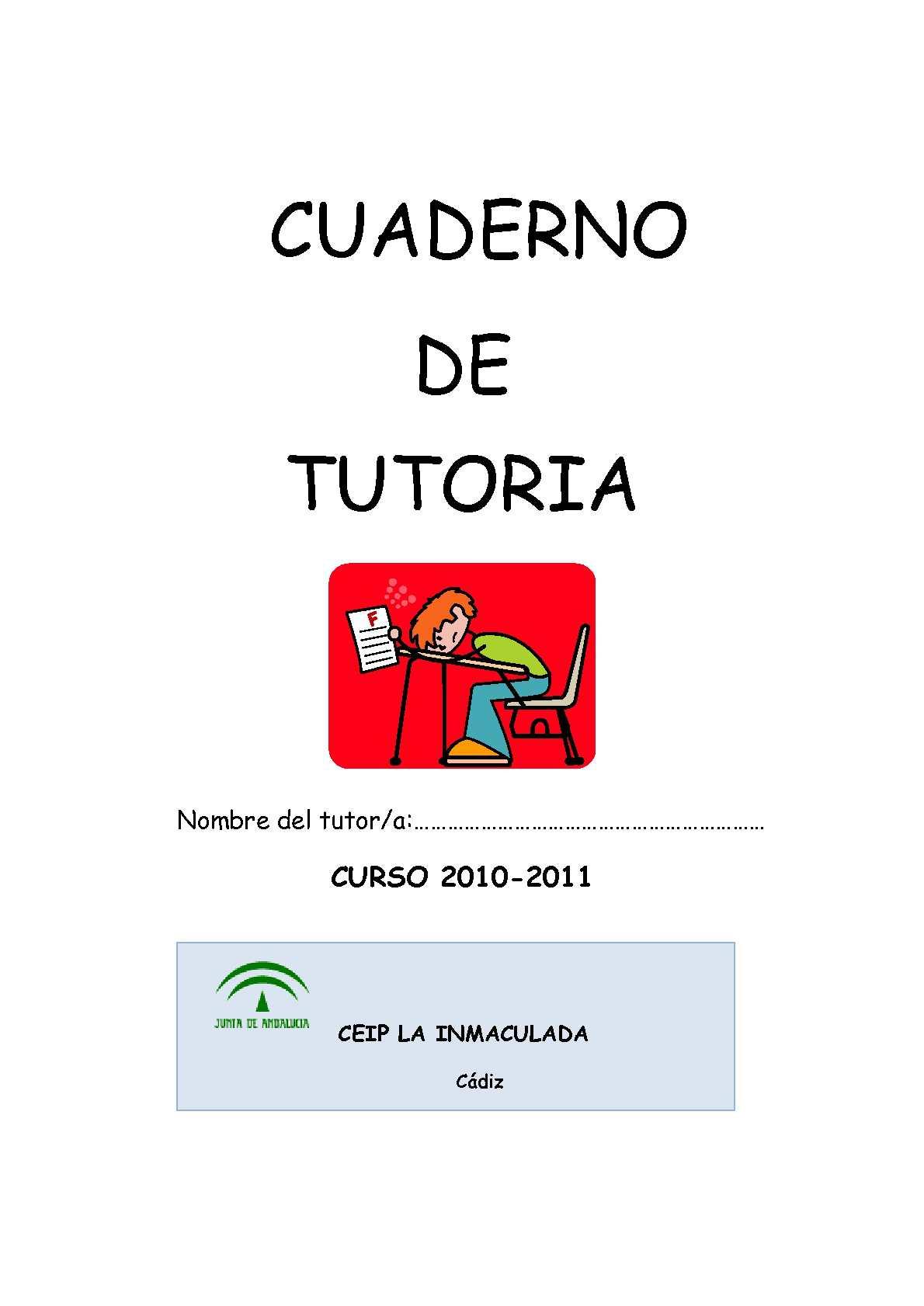 Cuaderno de tutoría CEIP LA INMACULADA Cádiz