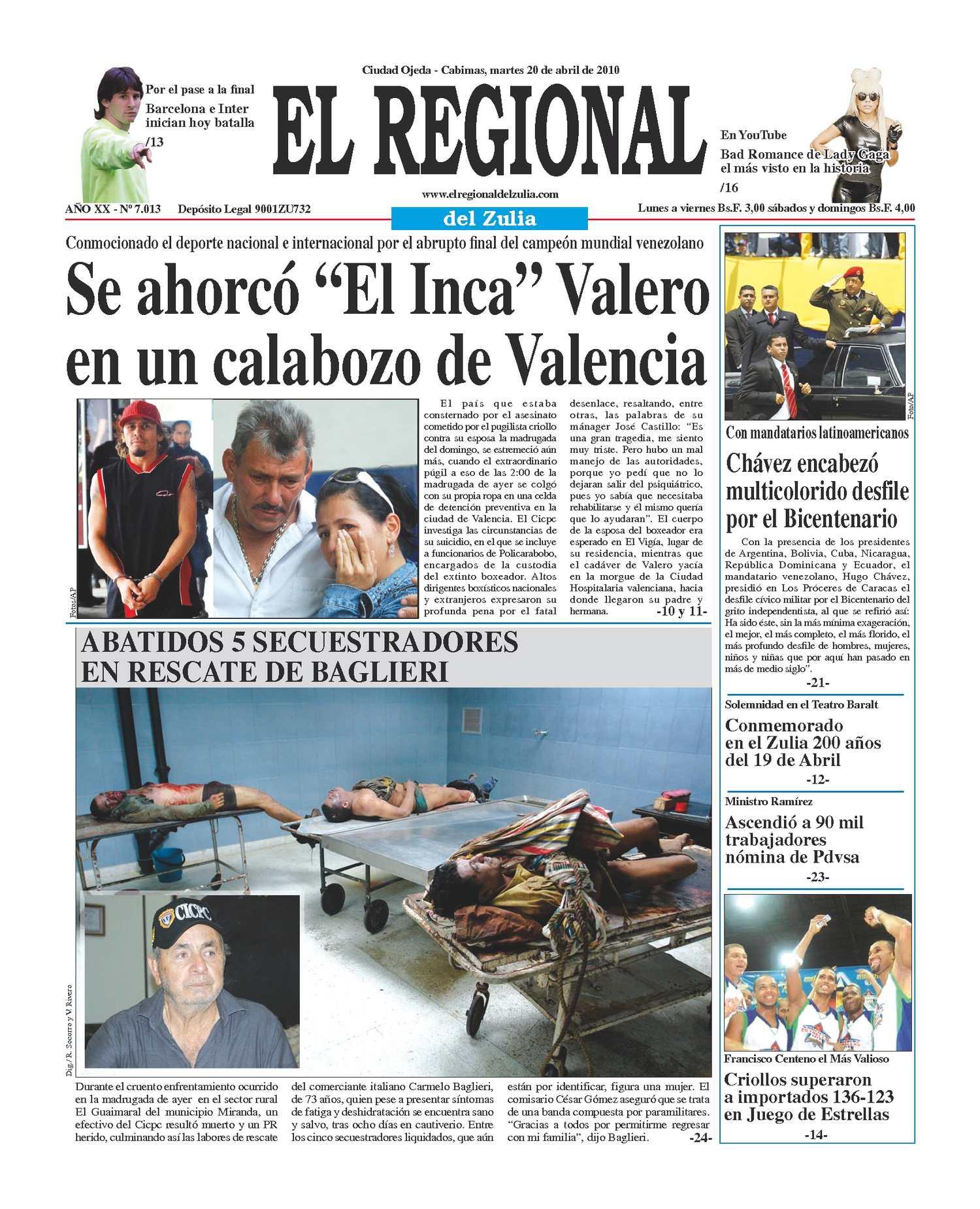 El Regional del Zuia 20-04-2010