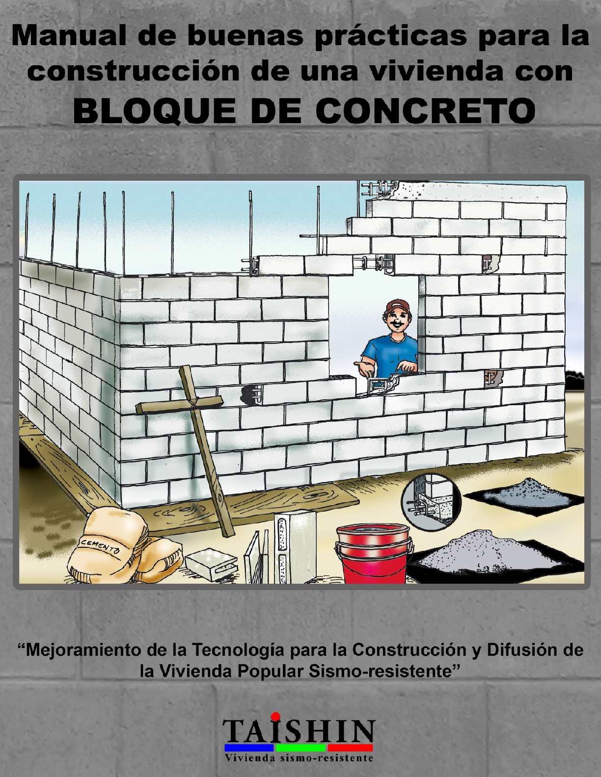 Calam o manual de buenas pr cticas para la construcci n for Construccion de gradas de concreto