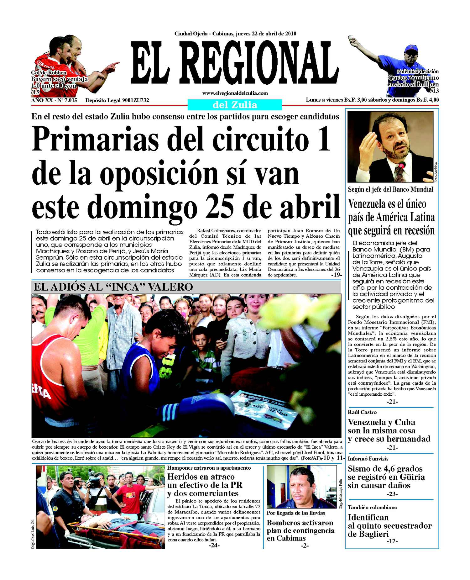El Regional del Zuia 22-04-2010