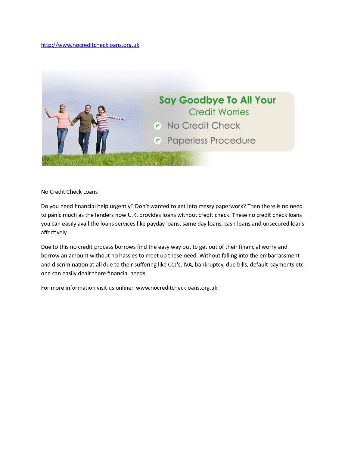 calaméo - no credit check loans
