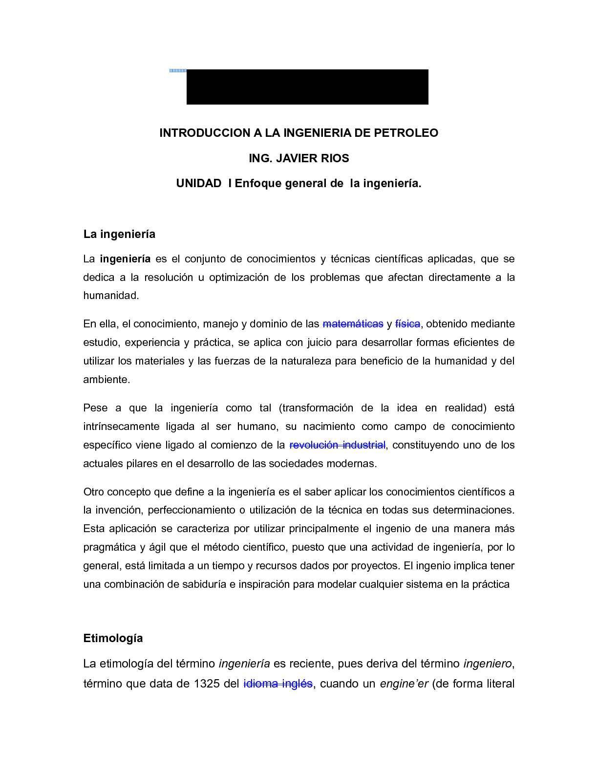 Calaméo - Introduccion a la Ingenieria en Petroleo. UNIDAD I Y II