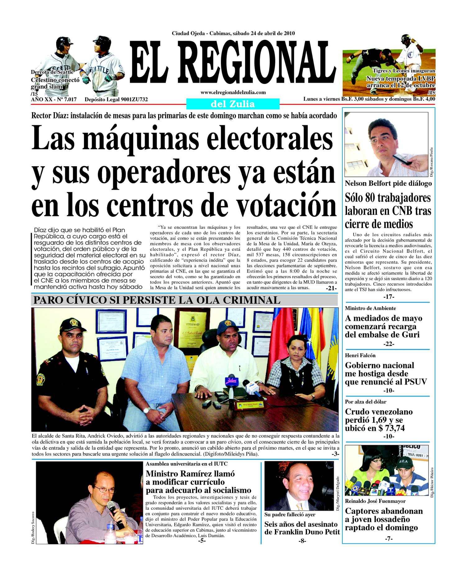 El Regional del Zulia 24-04-2010