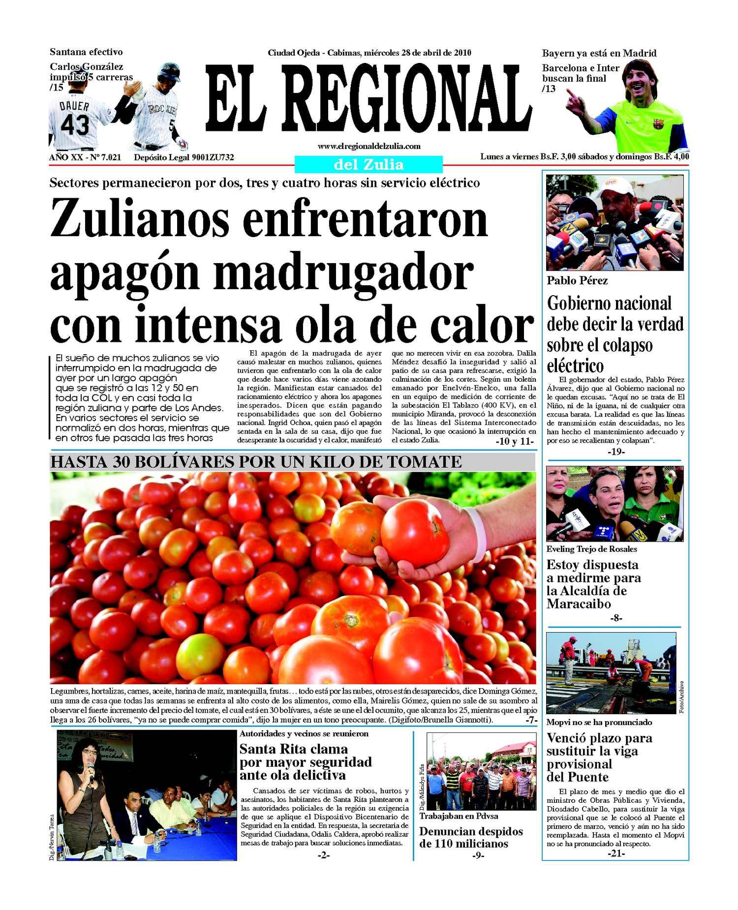 El Regional del Zulia 28-04-2010