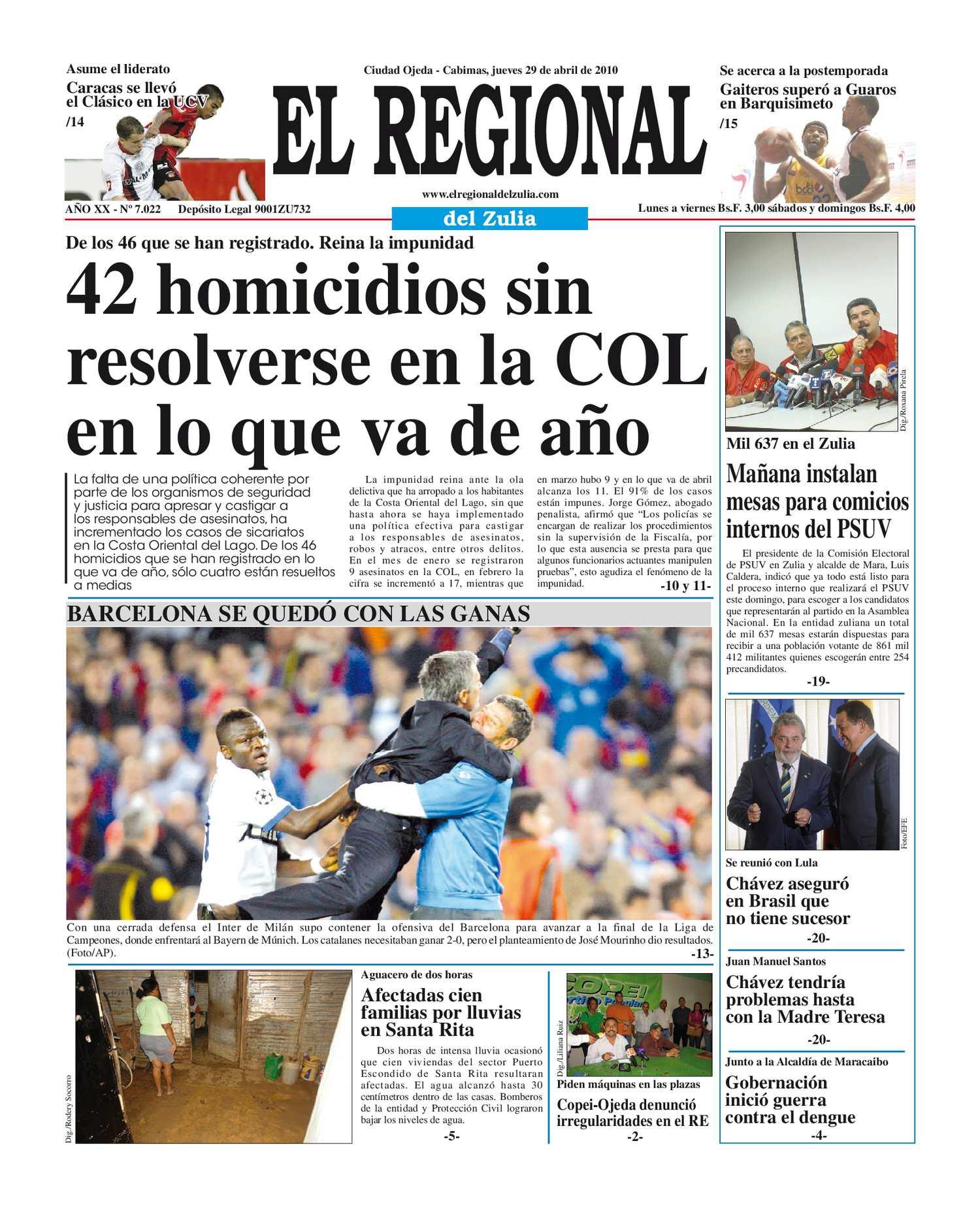 El Regional del Zulia 29-04-2010