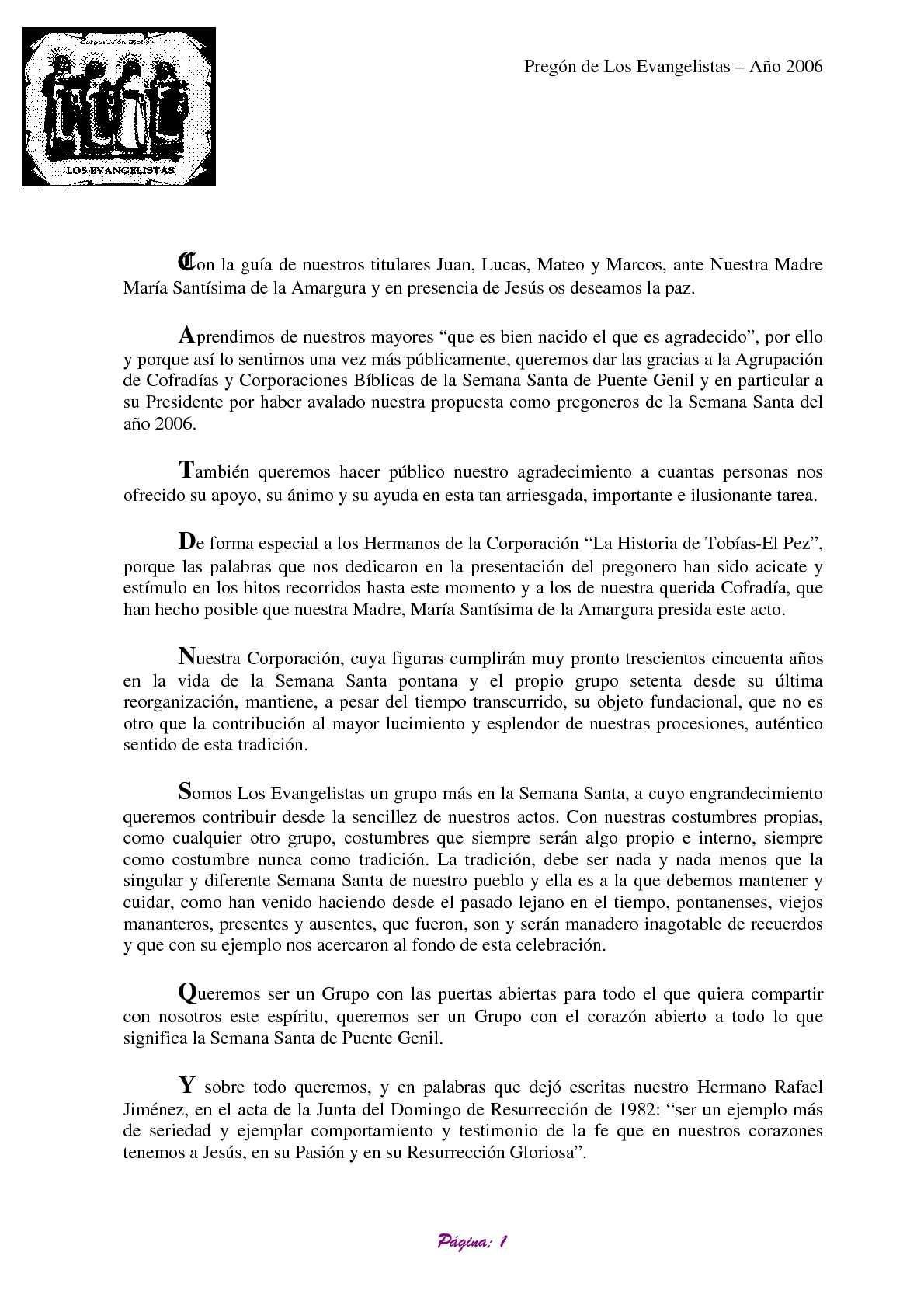 Calaméo - PREGON 2006 SEMANA SANTA PUENTE GENIL
