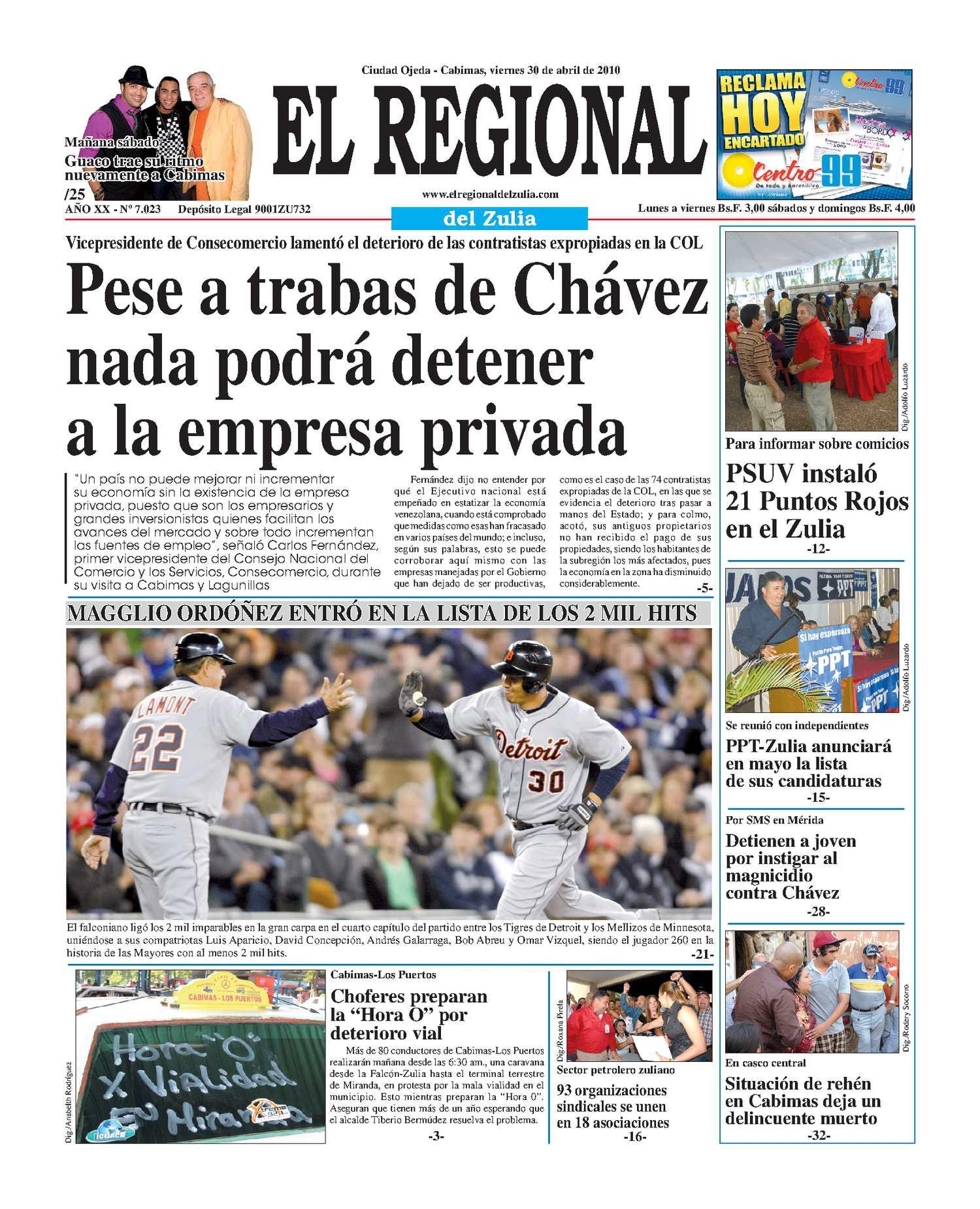 El Regional del Zulia 30-04-2010