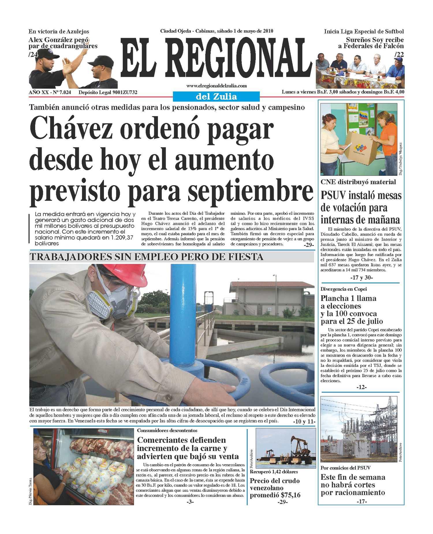 El Regional del Zulia 01-05-2010