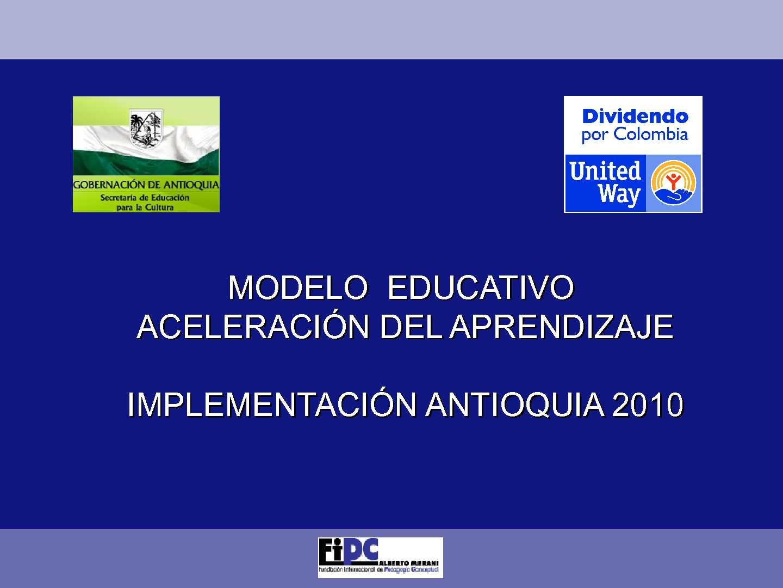 3. Modelo Educativo Aceleración del Aprendizaje