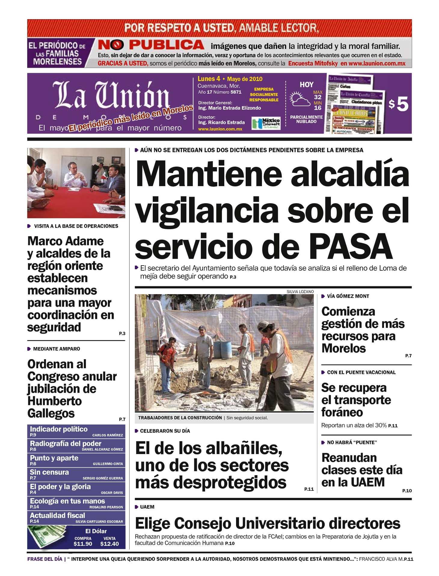 Calaméo - La Unión de Morelos 04 Mayo 2010