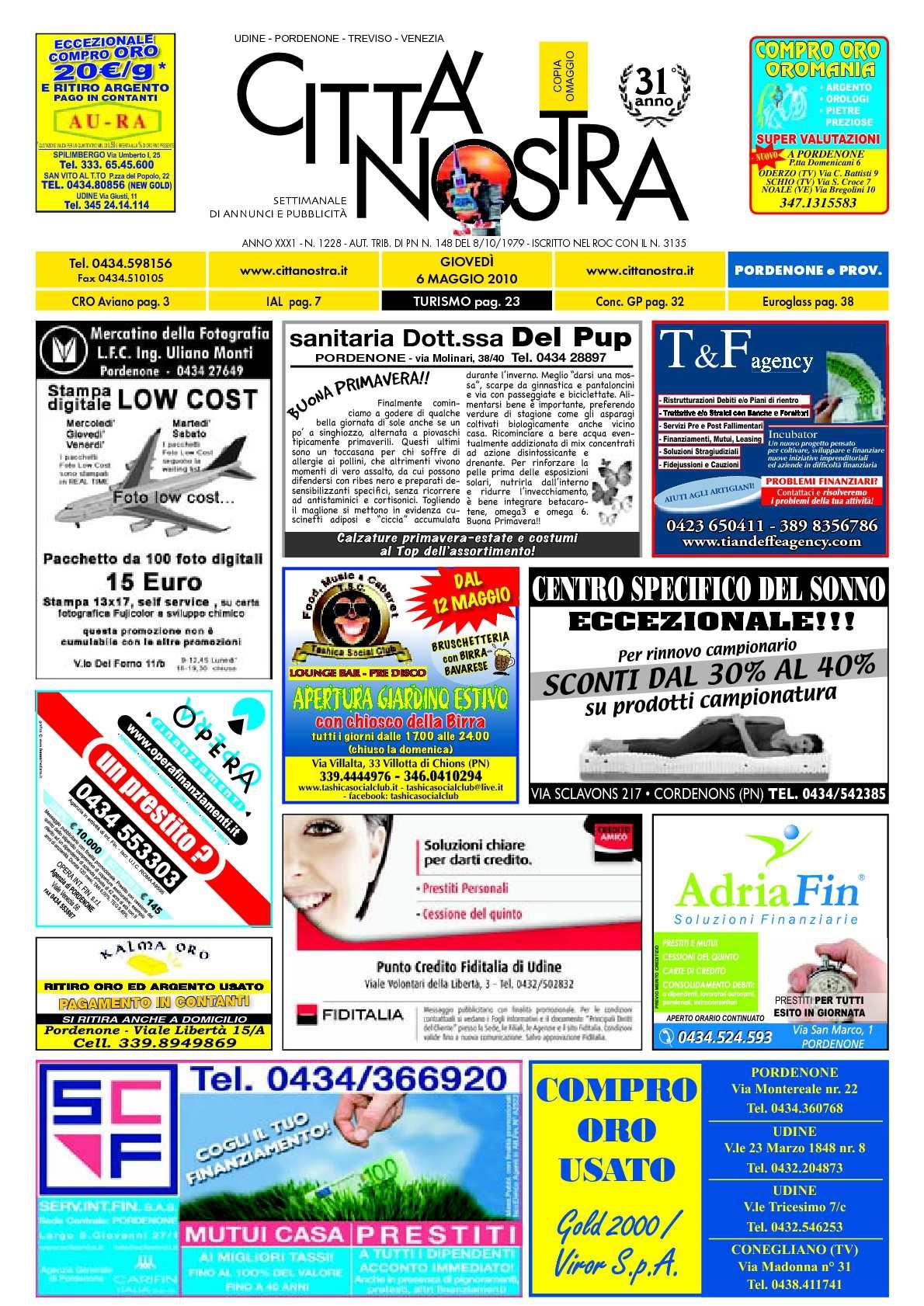 Calaméo Citt Nostra Pordenone Del 06 05 2010 N 1228