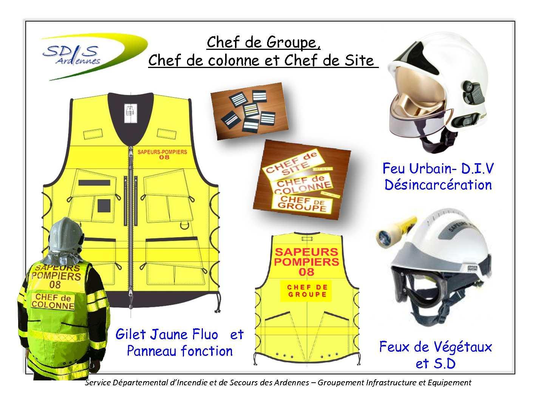 Identification fonctions opérationnelles des pompiers des Ardennes SDIS08
