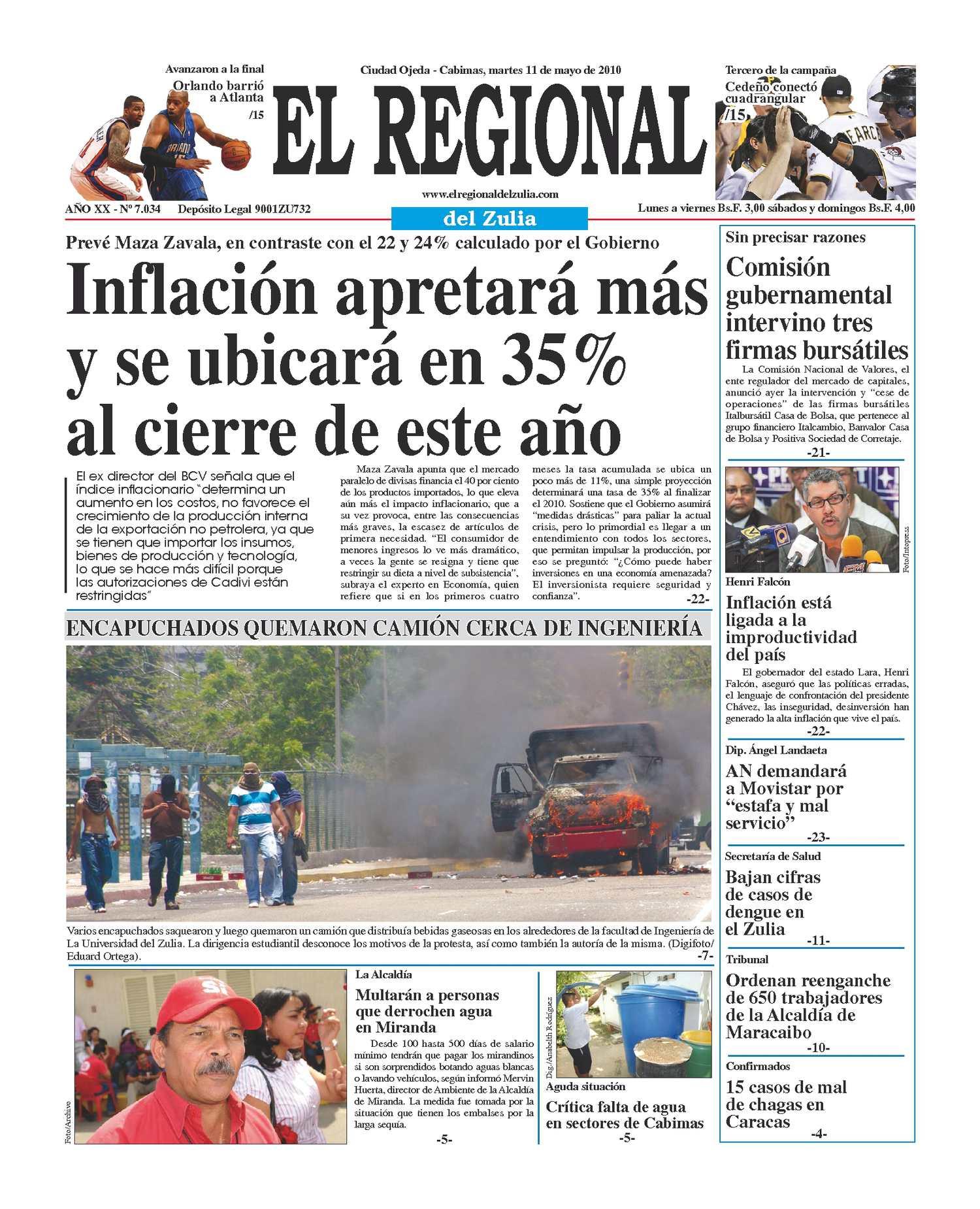El Regional del Zulia 11-05-2010