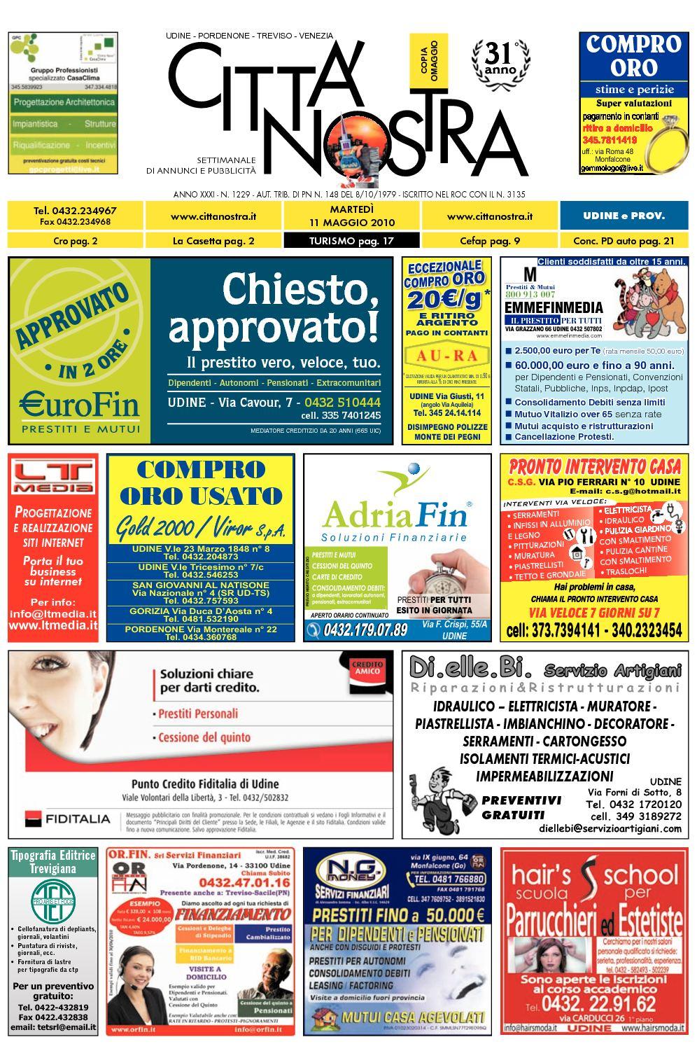 Calaméo Citt Nostra Udine Del 11 05 2010 N 1229