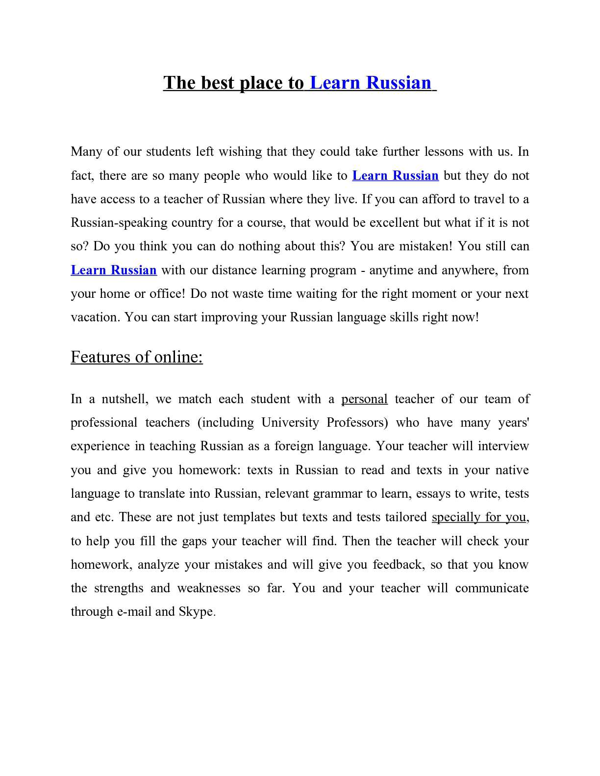 Essay on Russia: what you can write 20