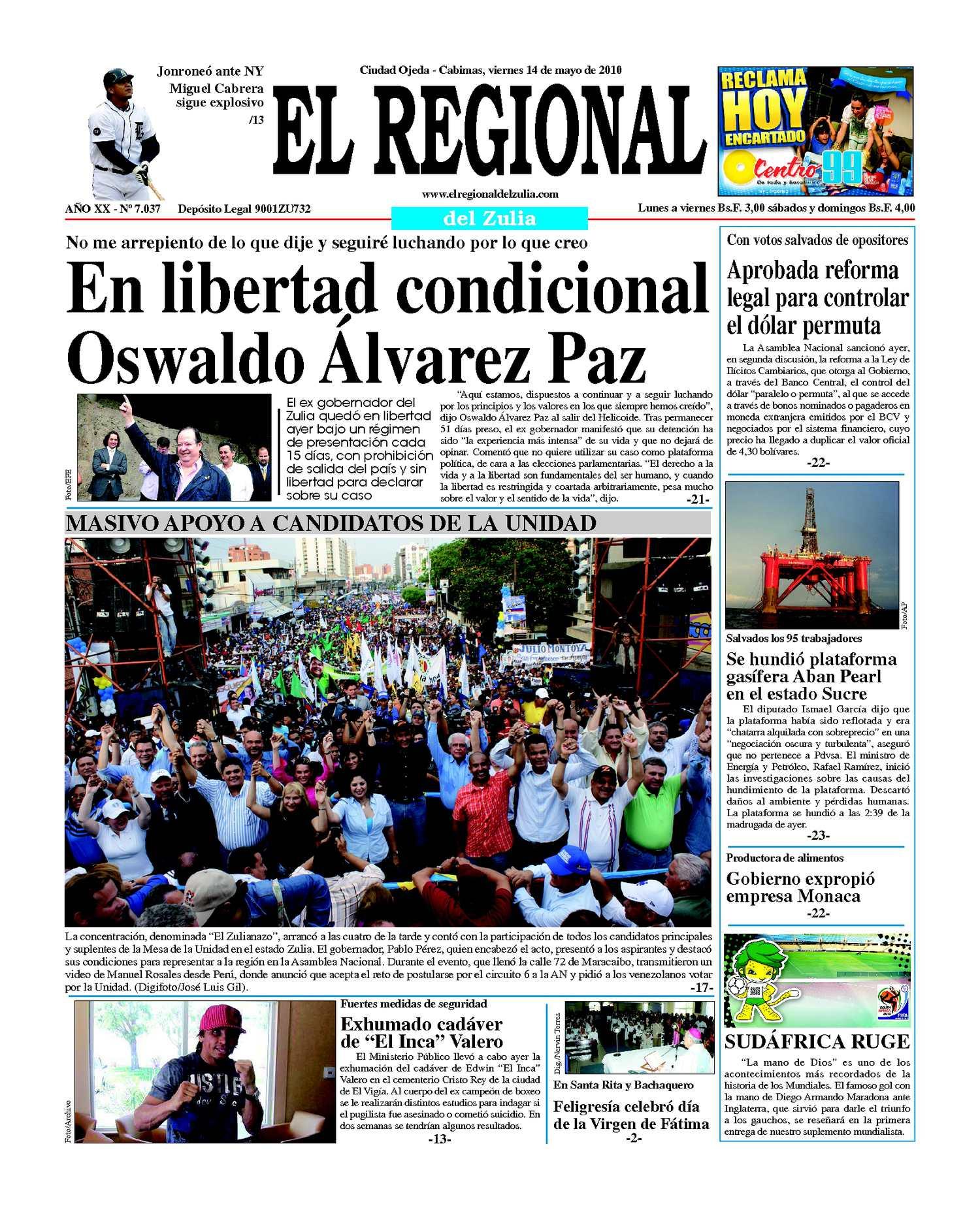 El Regional del Zulia 14-05-2010