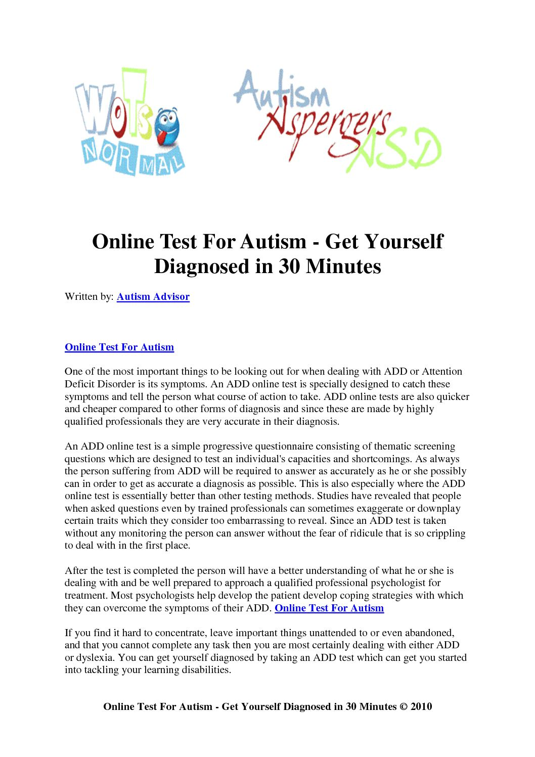 adults for online testing Add