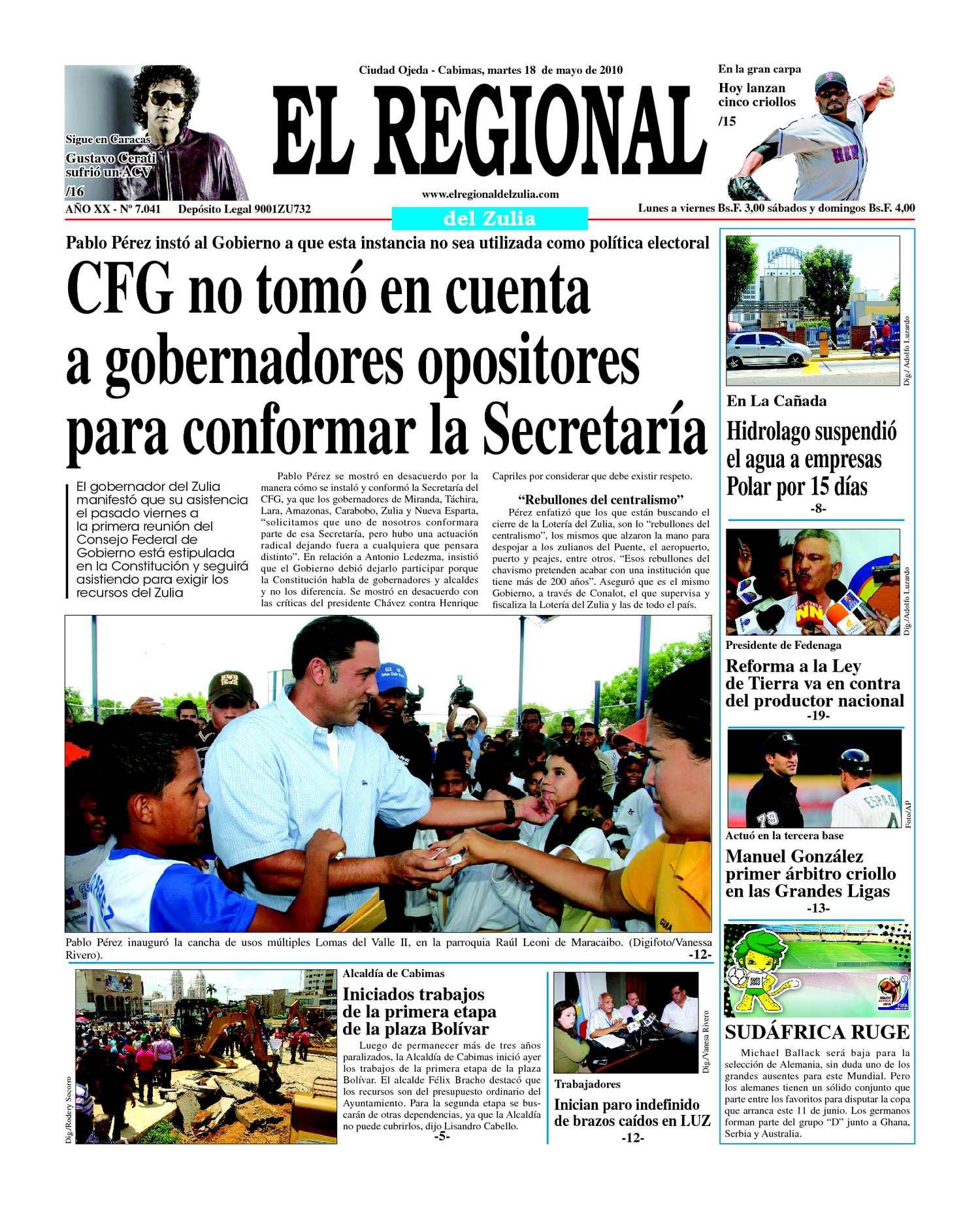 El Regional del Zulia 18-05-2010