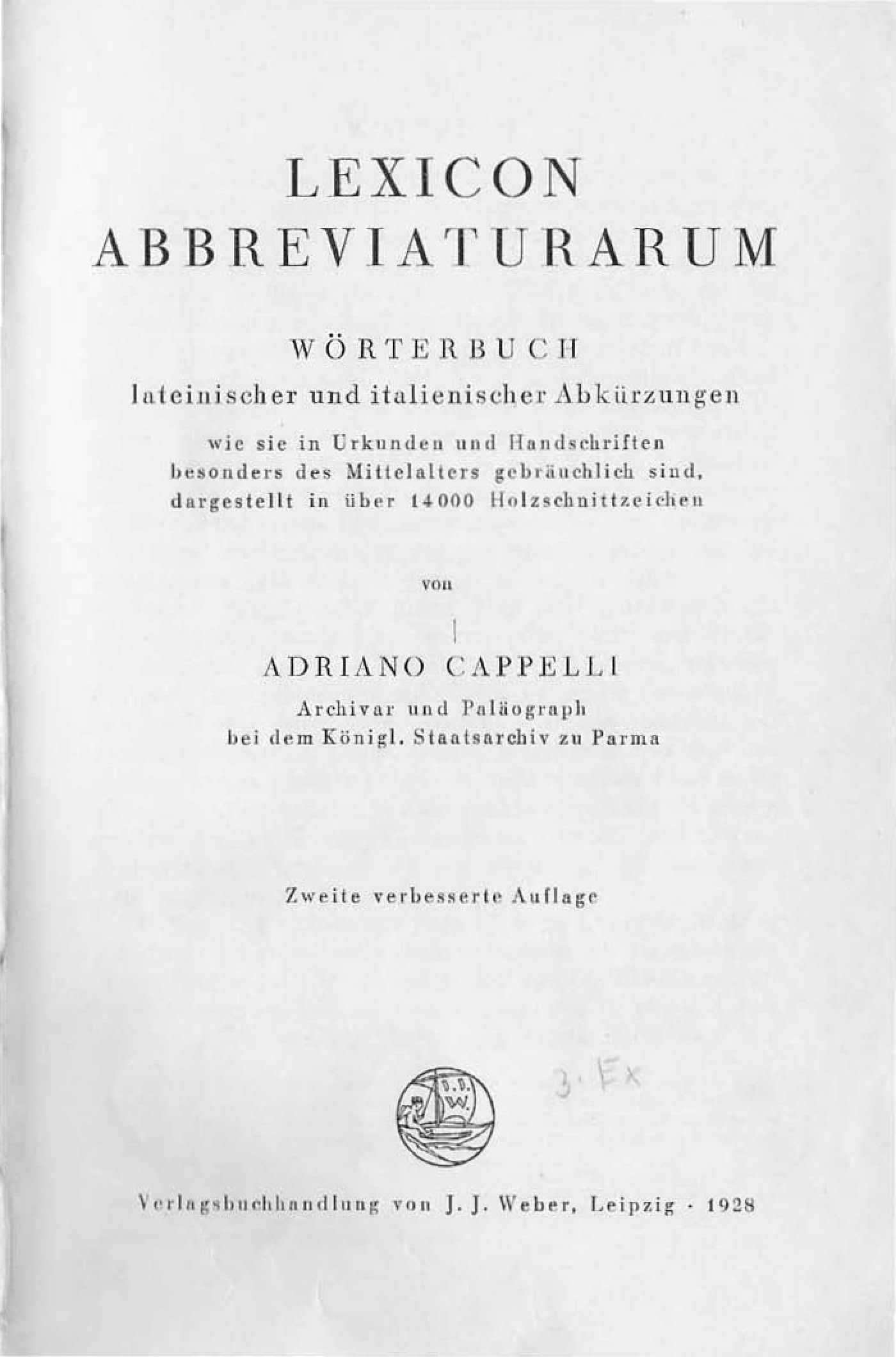 Calaméo Lexicon abbreviaturarum Wörterbuch lateinischer und italienischer Abkürzungen