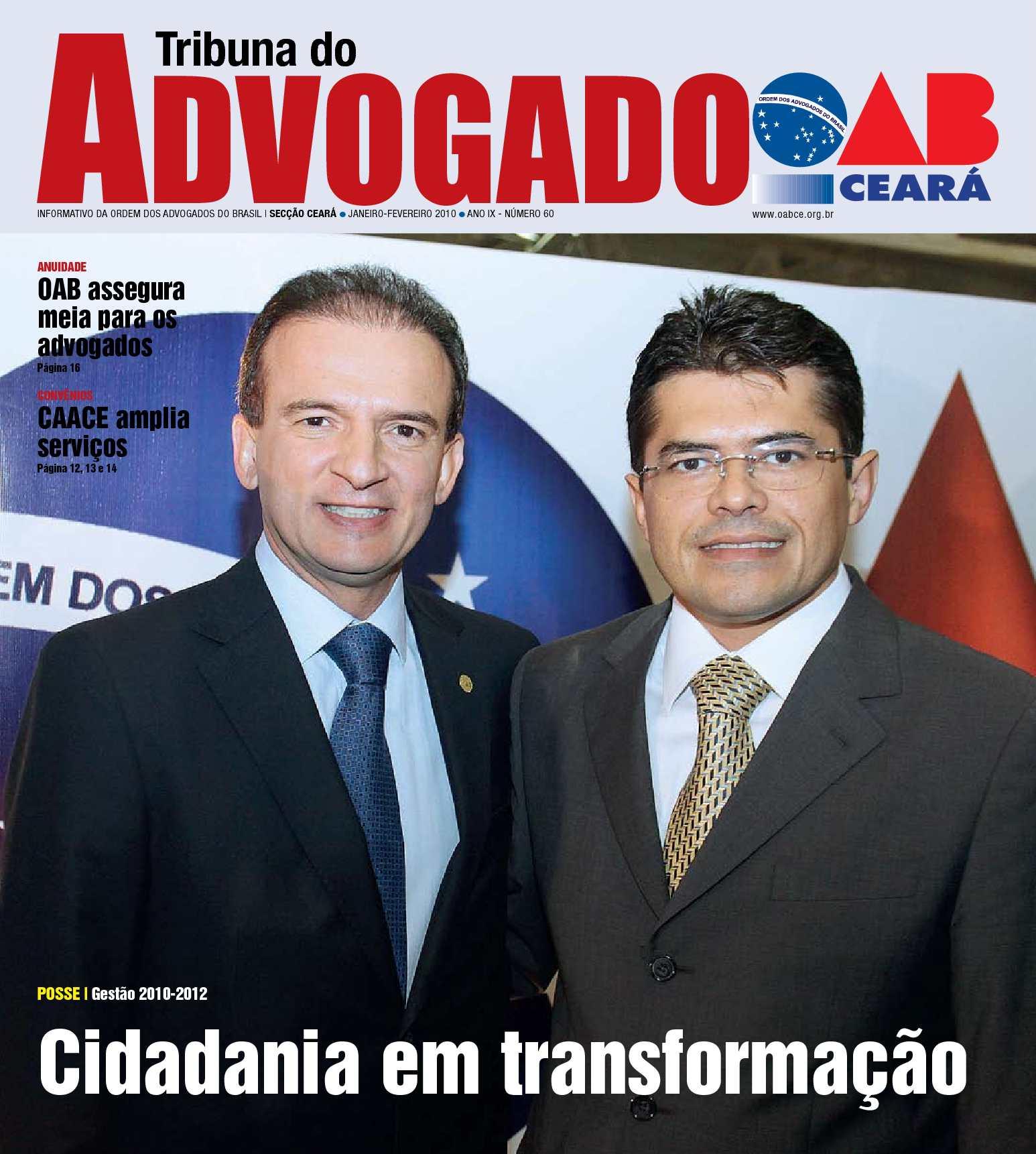 Calaméo - Tribuna do Advogado OAB-CE - Janeiro Fevereiro 2010 033178695b