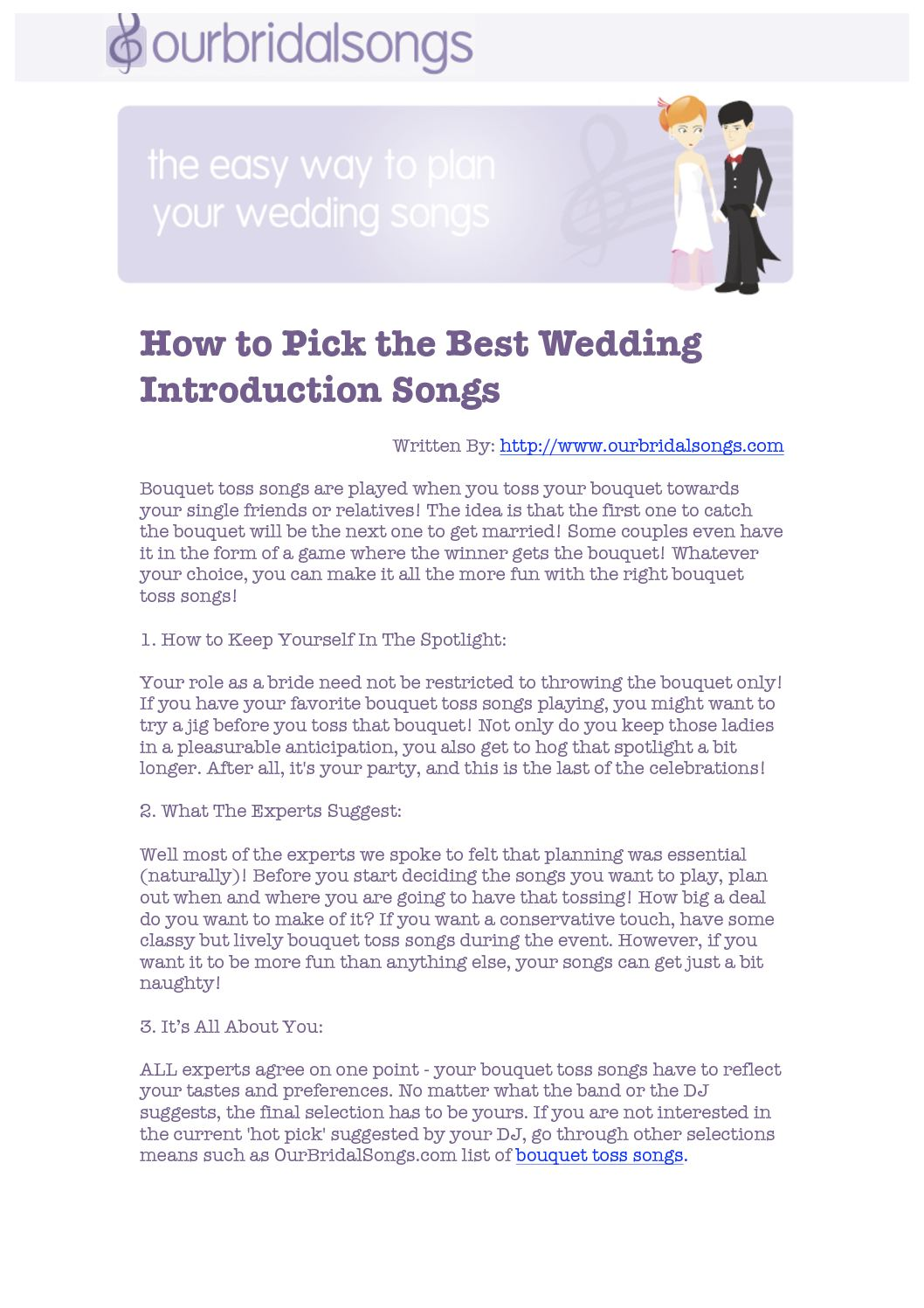 Calameo How To Pick The Best Wedding Introduction Songs
