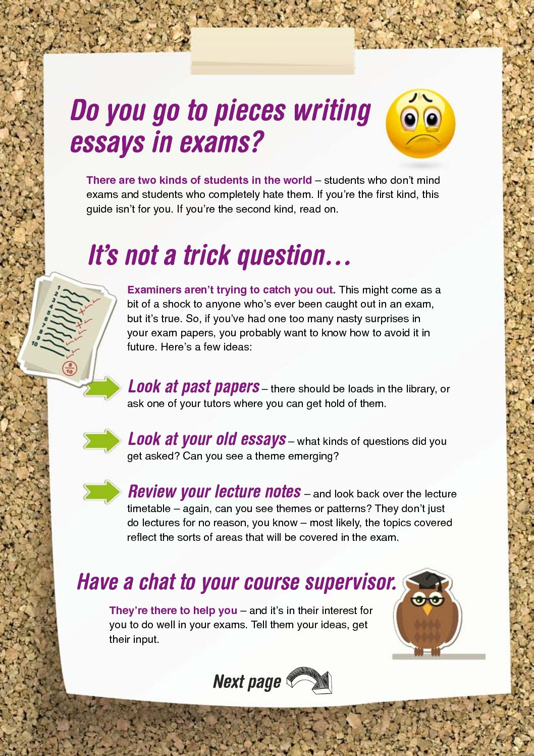 essay on should exams be there How to write an essay under exam conditions when you brainstorm there should be lots of things you should end up writing an excellent essay rather than just.