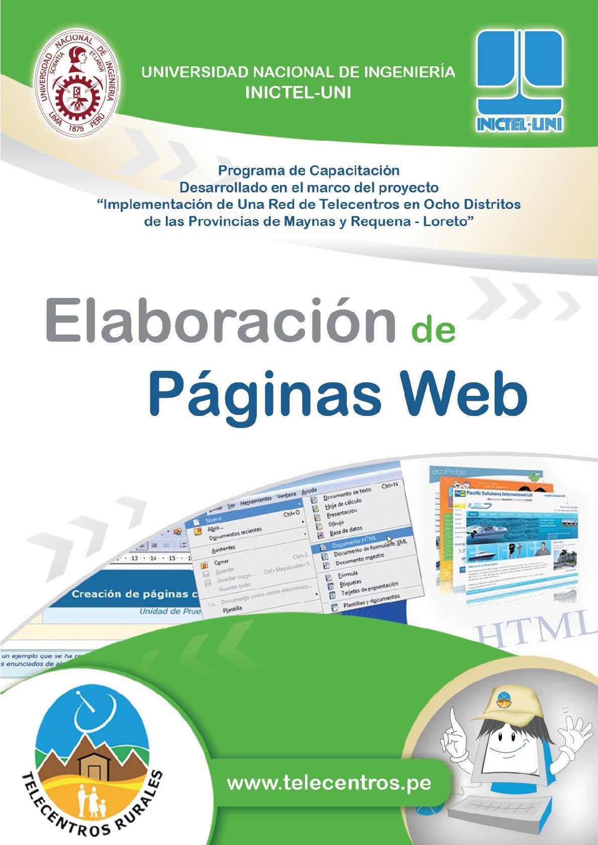 Manual de Elaboración de Páginas Web