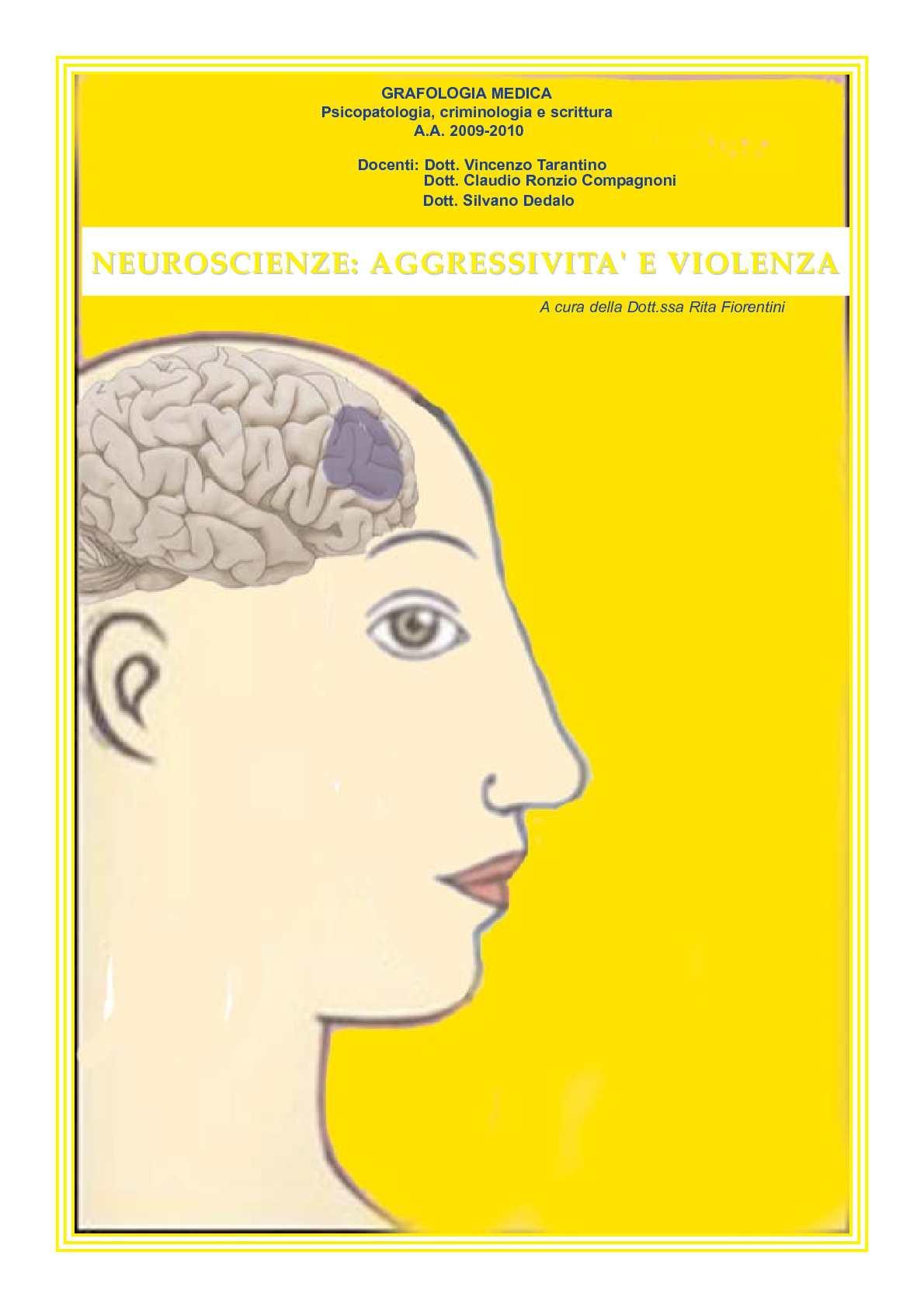 Neuroscienze: aggressività e violenza la tesi della Dott.ssa Rita Fiorentini