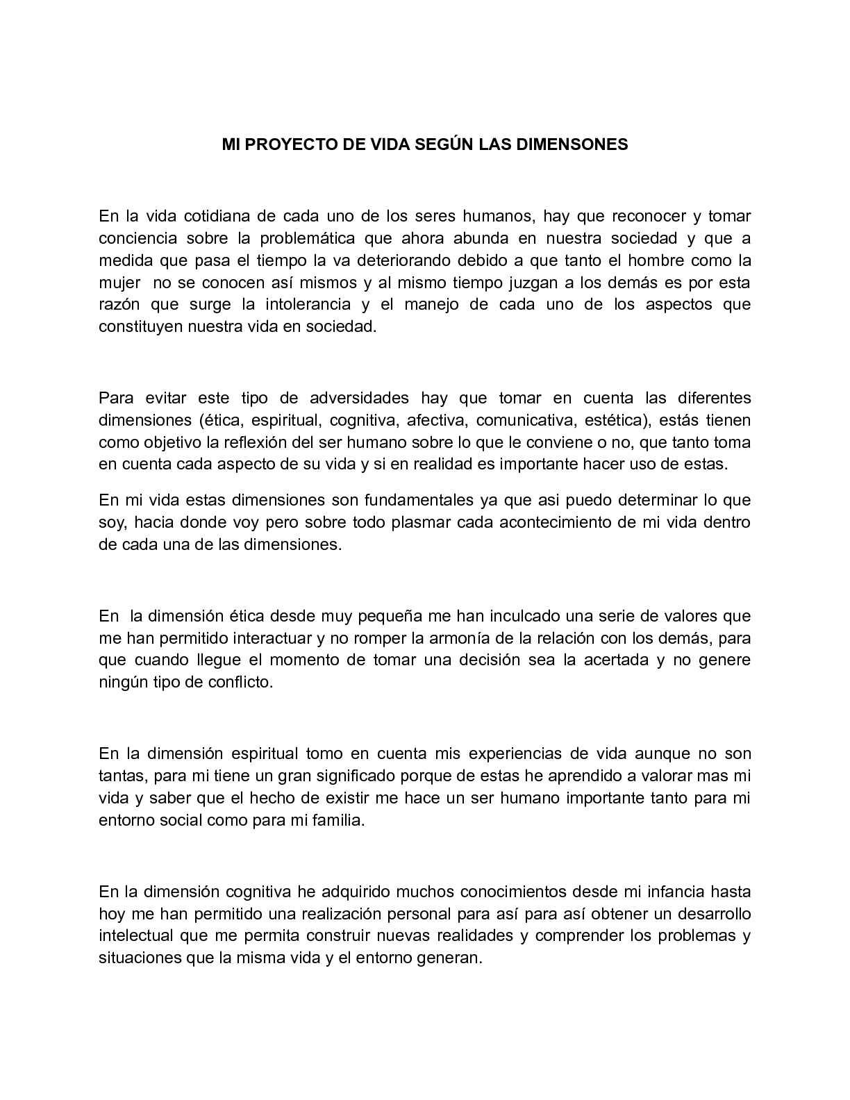 Calaméo - MI PROYECTO DE VIDA SEGUN LAS DIMENSIONES
