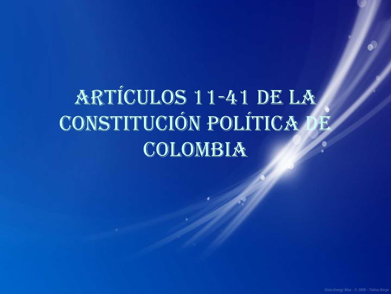 Constitucion 11-41