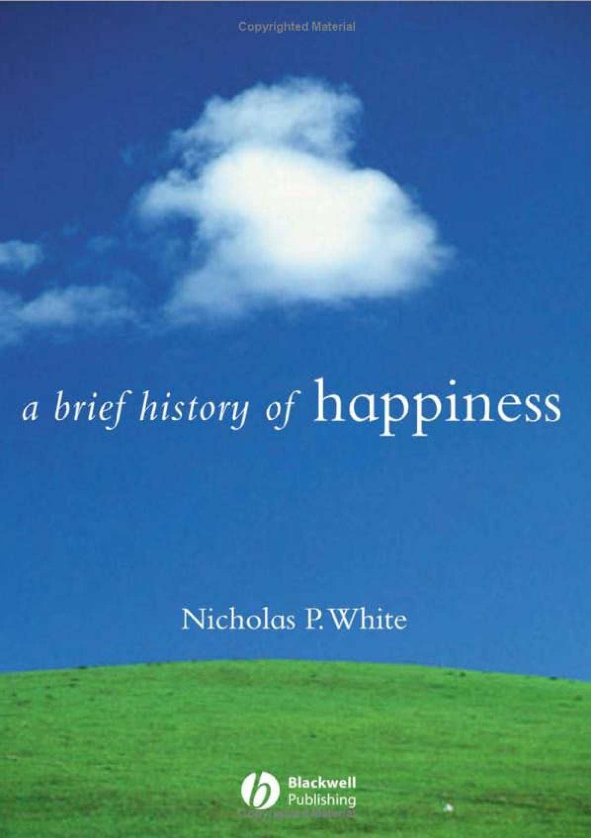 a history of happiness