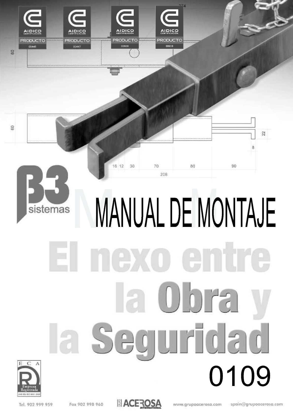Manual de Montaje Sistema B3