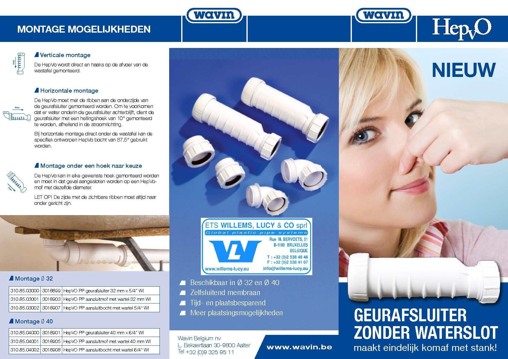 Calam o hepvo brochure produit de wavin nl - Remontee odeur egout ...