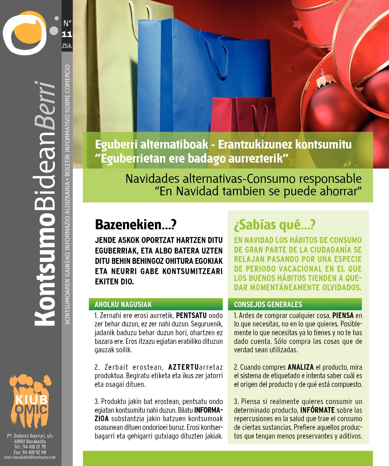 Calam o kontsumobidean berri n 11 for Oficina consumidor barakaldo