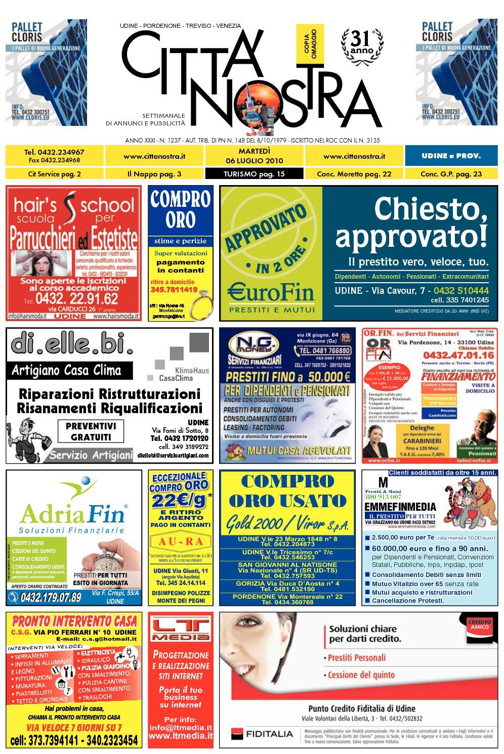 Calaméo Citt Nostra Udine Del 06 07 2010 N 1237