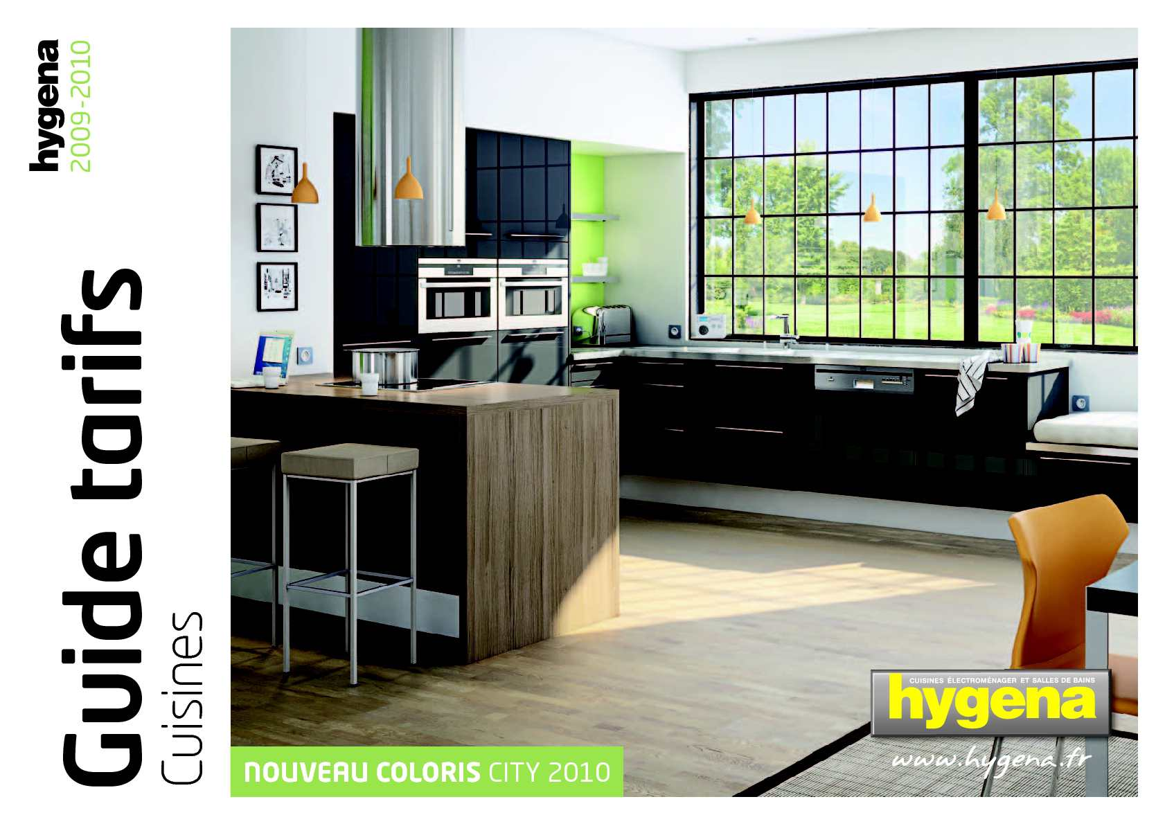 calam o guide tarifs hygena cuisines 2009 2010. Black Bedroom Furniture Sets. Home Design Ideas