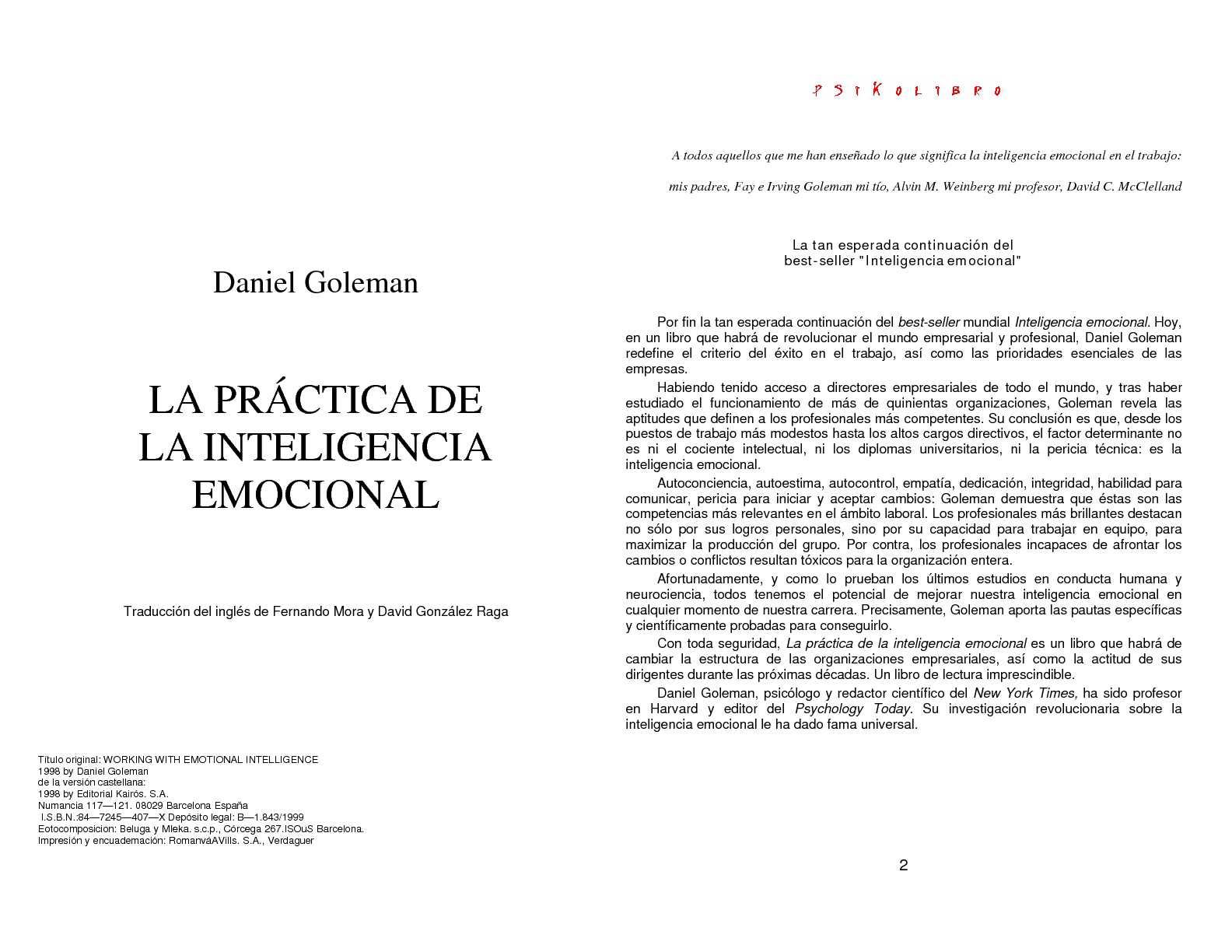 Calaméo - daniel goleman - la inteligencia emocional en la practica