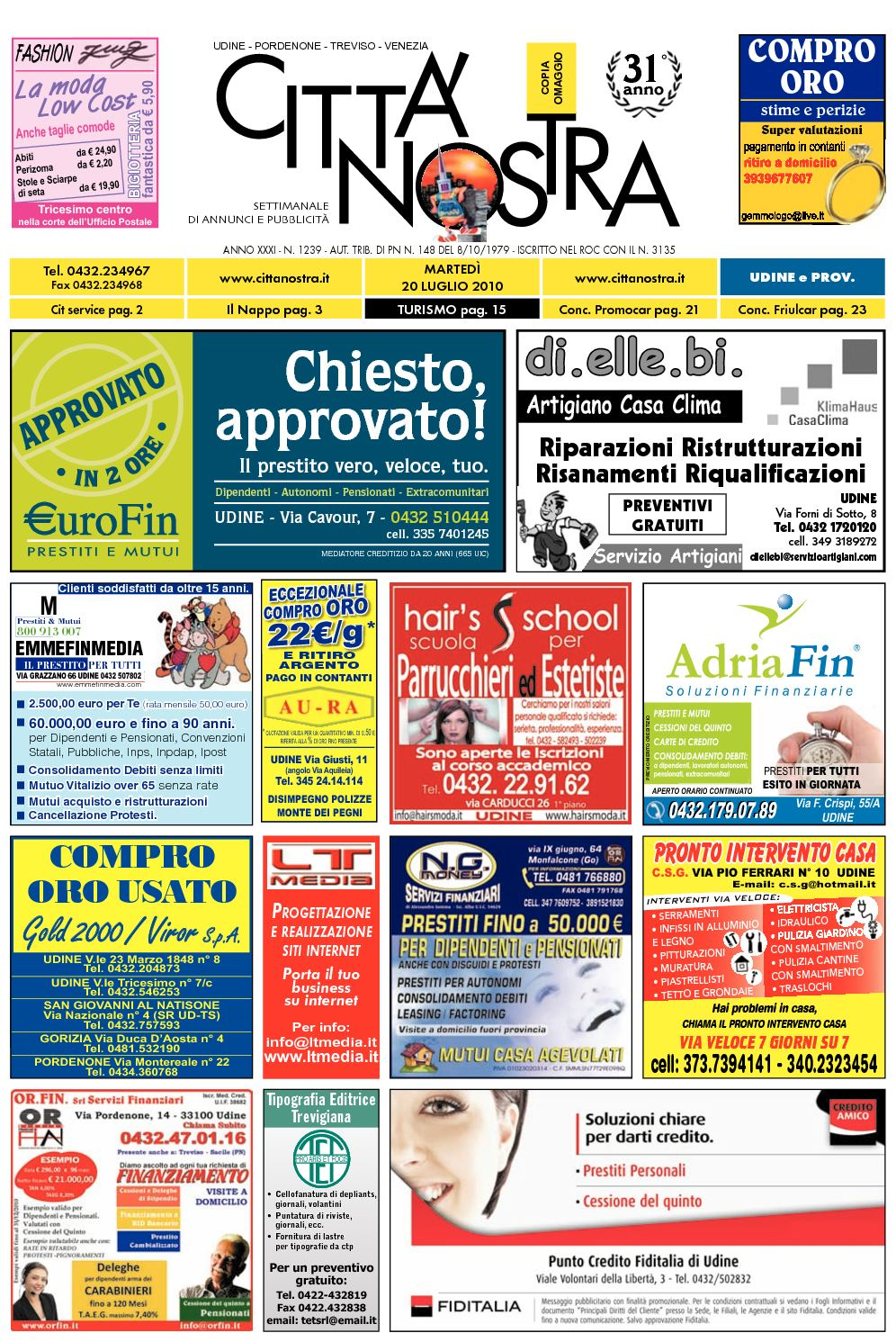 Calaméo Citt Nostra Udine Del 20 07 2010 N 1239