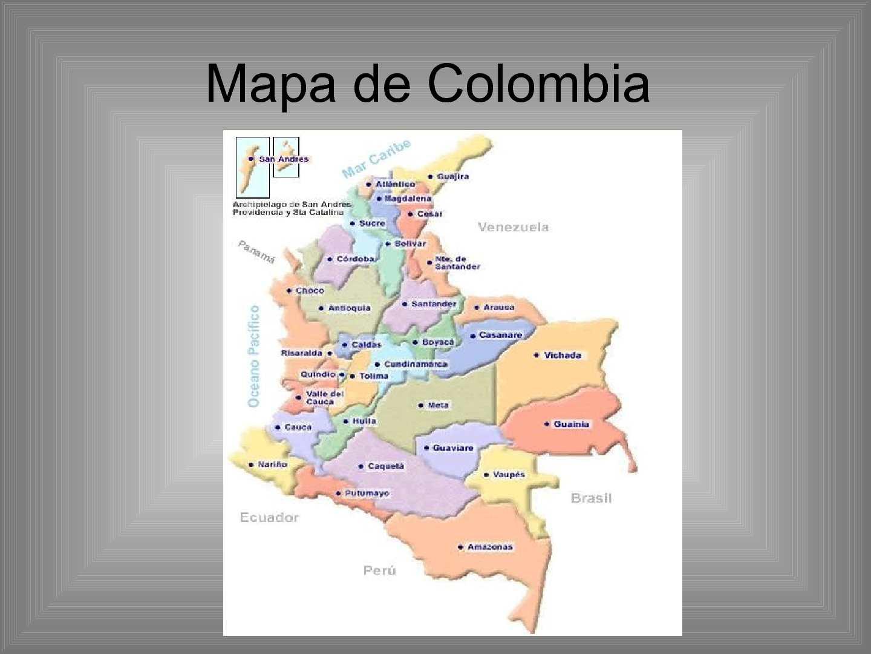 Calamo Mapa Fisico de Colombia ciencias sociales