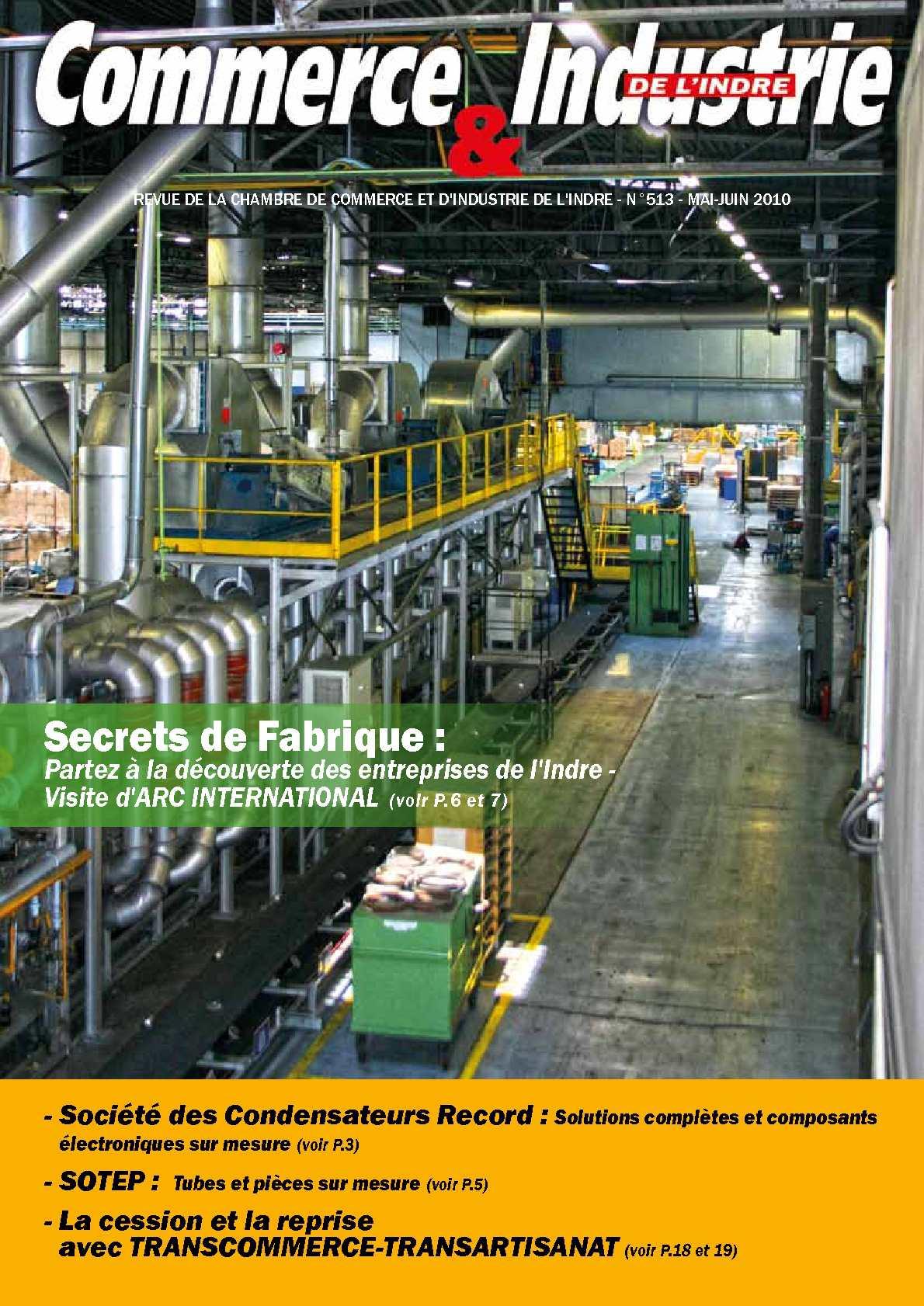 Calam o commerce industrie de l 39 indre n 513 - Chambre de commerce et de l industrie ...