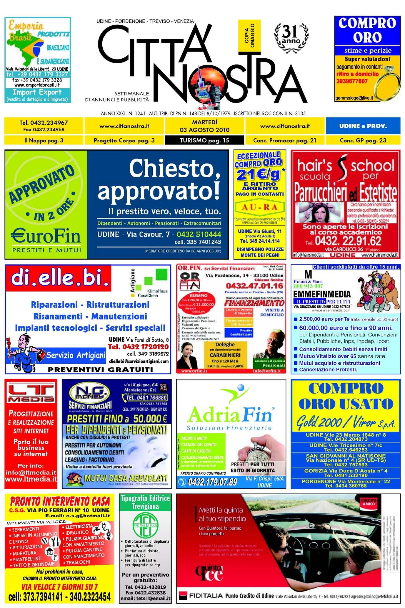 Calaméo Citt Nostra Udine Del 03 08 2010 N 1241